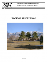 TCAHOA Book of Resolutions